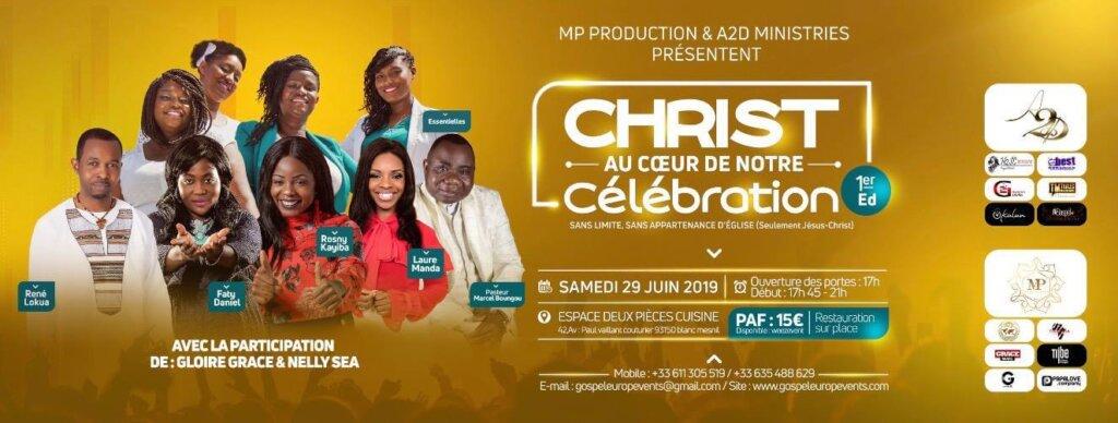 Affiche événement Christ Au Cœur De Notre Célébration