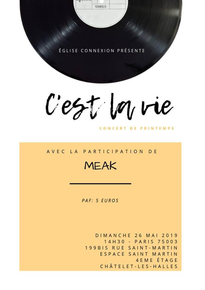 Affiche événement Concert de printemps «C'est la vie» avec MEAK