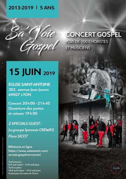 Affiche événement Sa'Voie Gospel en Concert