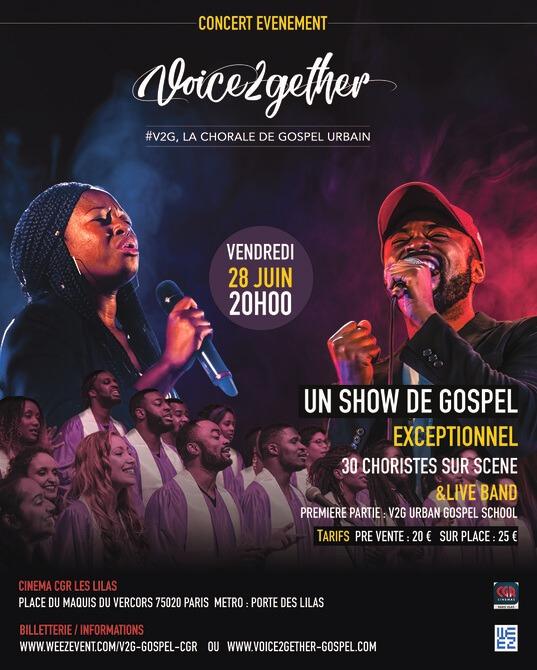 Affiche événement Concert événement Voice2gether