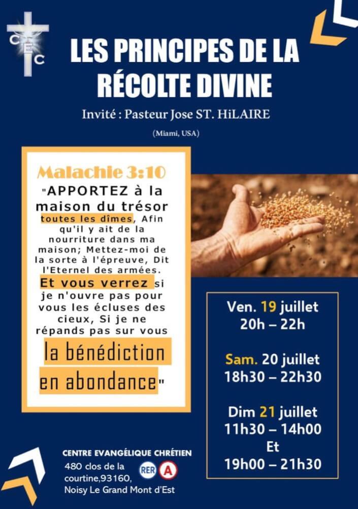 Les Principes De La Récolte Divine