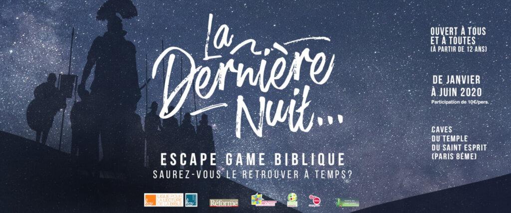 Affiche événement Escape Game Biblique – La dernière nuit