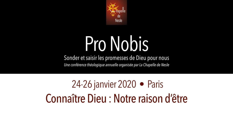 Pro Nobis 2020 - Connaître Dieu