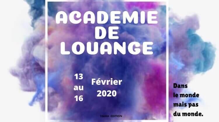 Affiche événement Académie de Louange 2020