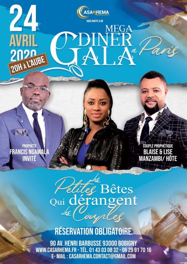 Affiche événement Méga diner de gala 2020