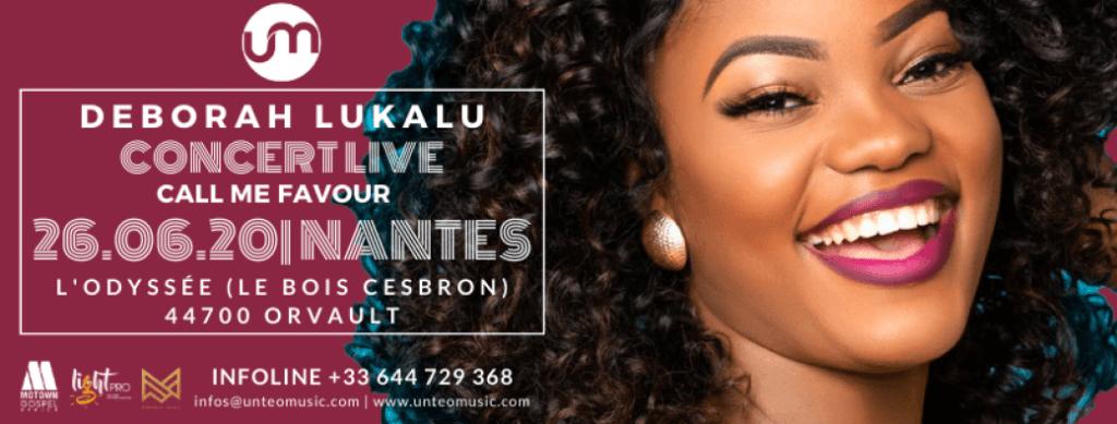 Affiche événement Concert Deborah Lukalu à Nantes